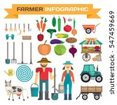 big set of cartoon farm... | Shutterstock . vector #547459669