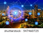 smart city and wireless... | Shutterstock . vector #547460725