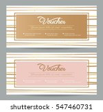 gift voucher coupon discount.... | Shutterstock .eps vector #547460731
