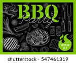 set bbq party. barbecue... | Shutterstock .eps vector #547461319