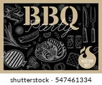 set bbq party. barbecue...   Shutterstock .eps vector #547461334