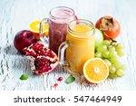berry smoothie  healthy juicy... | Shutterstock . vector #547464949
