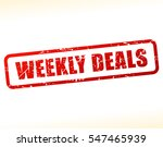 illustration of weekly deals... | Shutterstock .eps vector #547465939