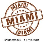 miami. stamp. brown round...   Shutterstock .eps vector #547467085