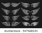 wings emblem black elements.... | Shutterstock .eps vector #547468141
