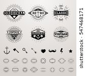 vintage lines insignia set with ... | Shutterstock .eps vector #547468171