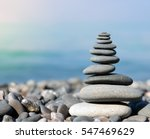 Stack Of Stones On The Sea...