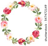 flower bohemian wreath with... | Shutterstock . vector #547472149