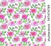 watercolor flower pattern   Shutterstock . vector #547474789