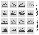 vector line mountains icons set ... | Shutterstock .eps vector #547475161