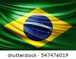brazil flag of silk  3d... | Shutterstock . vector #547476019
