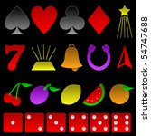 collection of basic gambling... | Shutterstock .eps vector #54747688