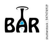 bar logo elements for wine shop ... | Shutterstock .eps vector #547476919