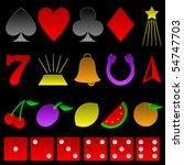 beveled gambling symbols  ... | Shutterstock . vector #54747703
