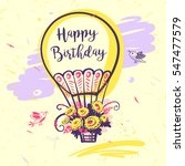 image of vector color balloon... | Shutterstock .eps vector #547477579