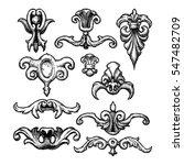 baroque and renaissance set of... | Shutterstock .eps vector #547482709