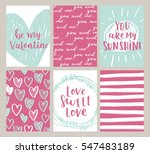 vector set of valentines day... | Shutterstock .eps vector #547483189