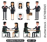 people at work with handshaking ... | Shutterstock .eps vector #547484065