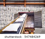 white bags of sugars from...   Shutterstock . vector #547484269