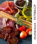 assorted antipasti | Shutterstock . vector #547486129