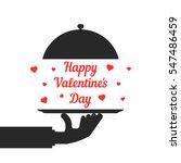 black hand serving happy... | Shutterstock .eps vector #547486459