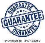 guarantee. stamp. blue round... | Shutterstock .eps vector #547488259