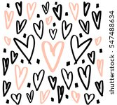 hearts background made with... | Shutterstock .eps vector #547488634