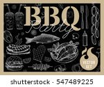 set bbq party. barbecue... | Shutterstock .eps vector #547489225
