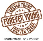 forever young. stamp. brown... | Shutterstock .eps vector #547490659