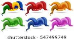 clown hats in different colors... | Shutterstock .eps vector #547499749
