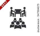 meeting icon vector flat design ... | Shutterstock .eps vector #547504075