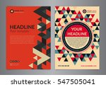 set a4 business brochure flyer... | Shutterstock .eps vector #547505041
