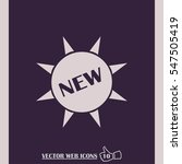vector new circle label | Shutterstock .eps vector #547505419