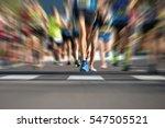 marathon running race people...   Shutterstock . vector #547505521