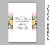 anemone wedding invitation... | Shutterstock .eps vector #547506919
