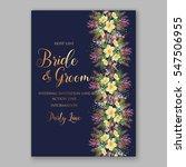 anemone wedding invitation... | Shutterstock .eps vector #547506955