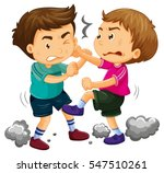 two young boys fighting ... | Shutterstock .eps vector #547510261