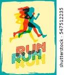 run. sport motivation lettering ... | Shutterstock .eps vector #547512235