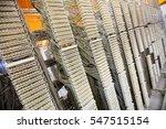 rack mounted server in server... | Shutterstock . vector #547515154