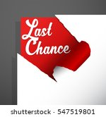 'last chance' text uncovered... | Shutterstock .eps vector #547519801