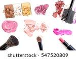 makeup. make up set.collage... | Shutterstock . vector #547520809