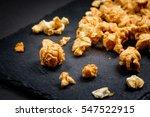 Caramel Cream Popcorn On Stone...