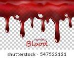 seamless dripping blood... | Shutterstock .eps vector #547523131