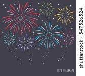 colorful exploding fireworks on ...   Shutterstock .eps vector #547526524