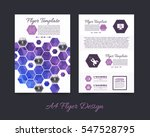 polygonal brochure  a4 flyer... | Shutterstock .eps vector #547528795