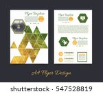 polygonal brochure  a4 flyer... | Shutterstock .eps vector #547528819