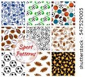 sport patterns set of balls and ... | Shutterstock .eps vector #547529005