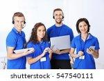 team of friendly technical... | Shutterstock . vector #547540111