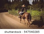 back view of person riding... | Shutterstock . vector #547540285