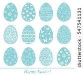 easter eggs set. pattern in a... | Shutterstock .eps vector #547541131